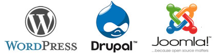 drupal-wordpress-joomla-logos